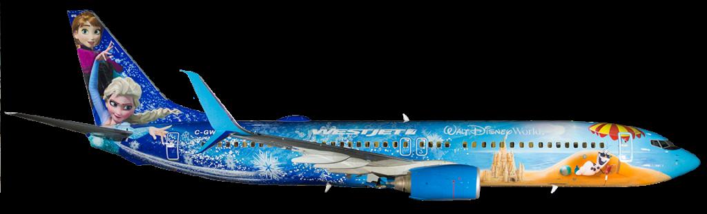 WestJet Frozen Jet ©WestJet