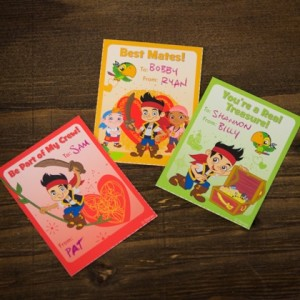 Jake & The Neverland Pirates Valentines Day Cards ©Disney