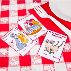 Lady and the Tramp Valentines Day Cards ©Disney