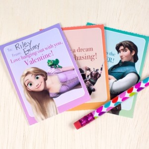 Tangled Valentines Cards ©Disney