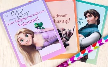 Free Disney Valentines Day Card Printables