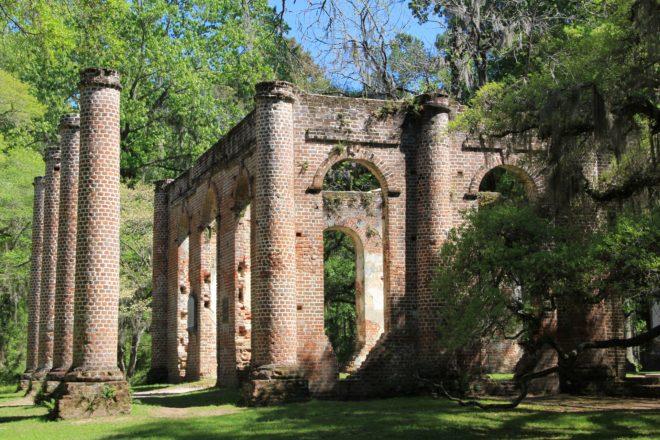 Old Sheldon Church Ruins ©Richard Christensen (click for full size image)