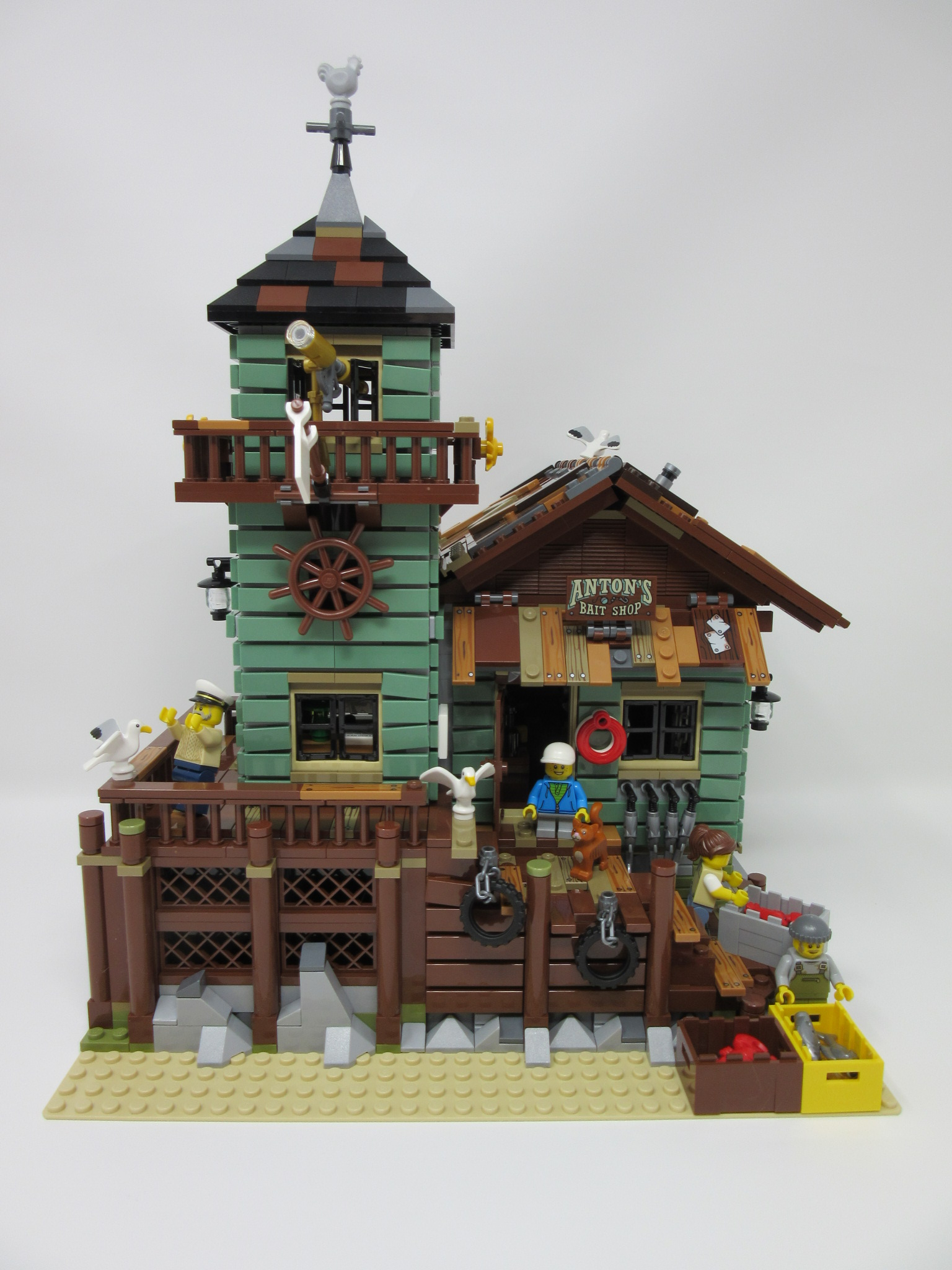 Lego ideas old fishing store review wagon pilot adventures for Lego ideas old fishing store