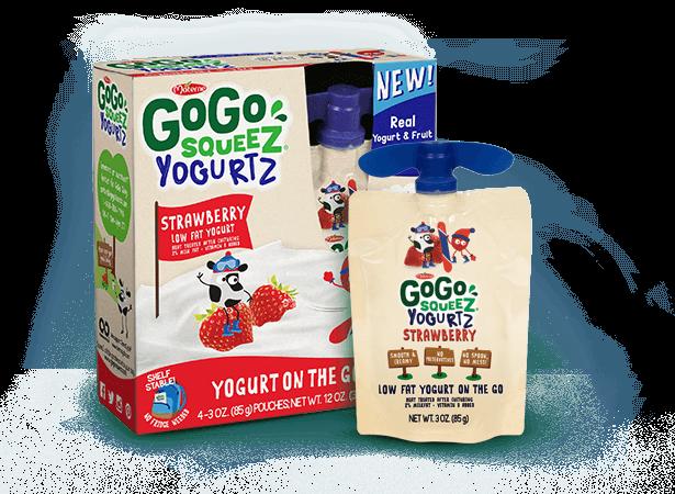 GoGo SqueeZ YogurtZ ©GoGo SqueeZ