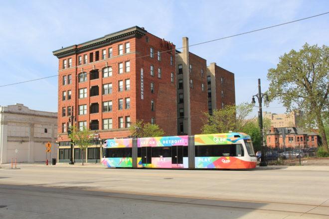 Q-line trolley in Midtown Detroit ©R. Christensen