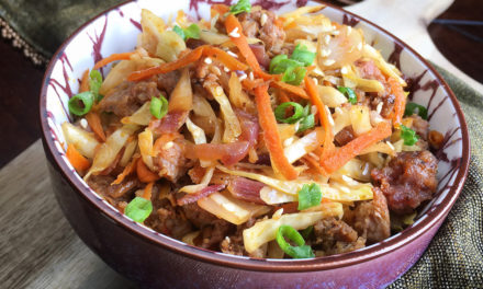 Easy Keto Egg Roll Bowl Recipe