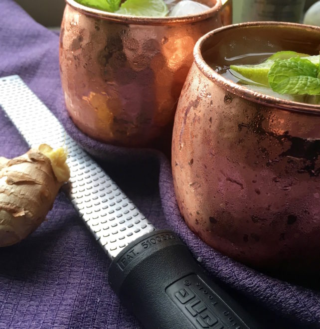 Classic Moscow Mule with Fresh Ginger Syrup