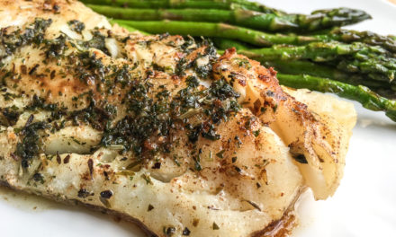 Cod with Garlic Herb Butter