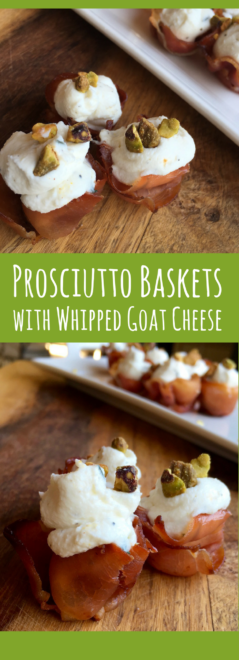 Goat Cheese in Prosciutto Baskets