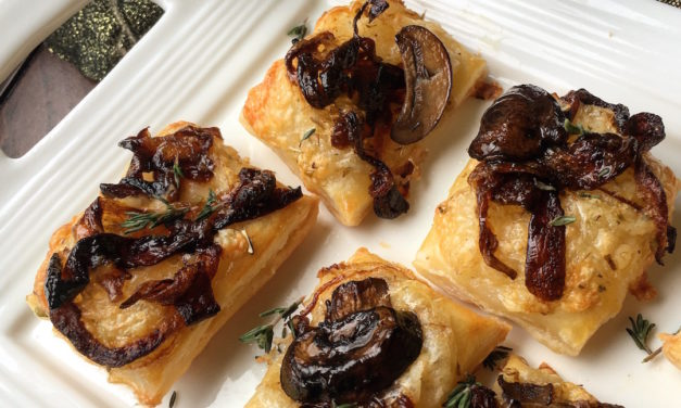 Savory Mushroom Puff Pastry Bites