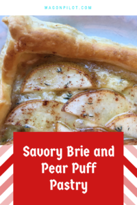 Savory Brie and Pear Puff Pastry