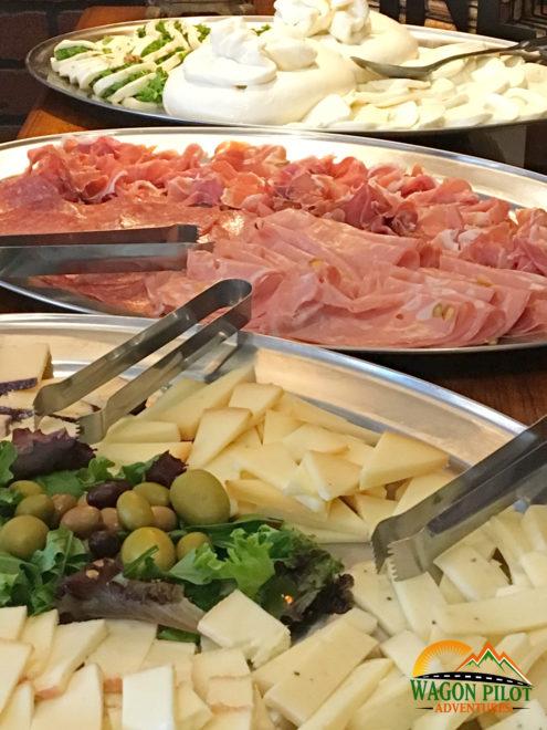 Charcuterie spread at Catello's Mozzarella Bar © Wagon Pilot Adventuress