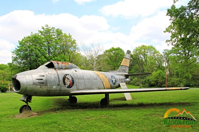 F-86 on Display at VFW Post 7119 Indianapolis © Wagon Pilot Adventures