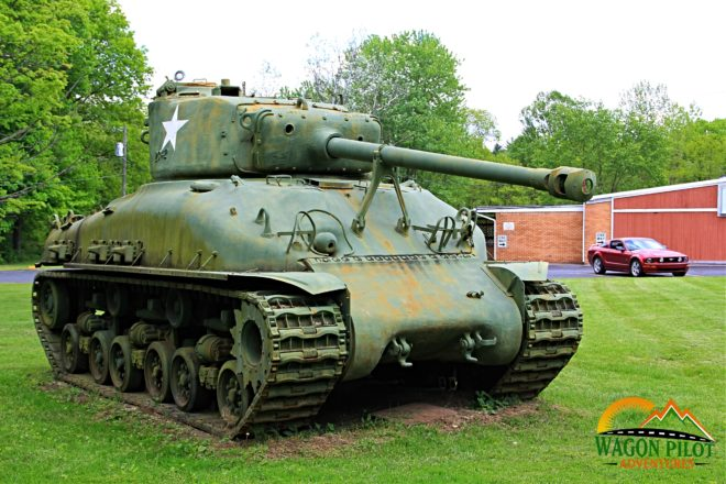 Sherman tank on Display at VFW Post 7119 Indianapolis © Wagon Pilot Adventures