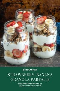 Strawberry-Banana Granola Parfait Recipe