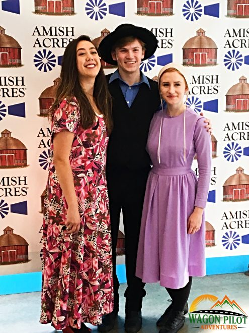 Meet and greet with the actors from Plain and Fancy at the Round Barn Theater at Amish Acres © Wagon Pilot Adventures