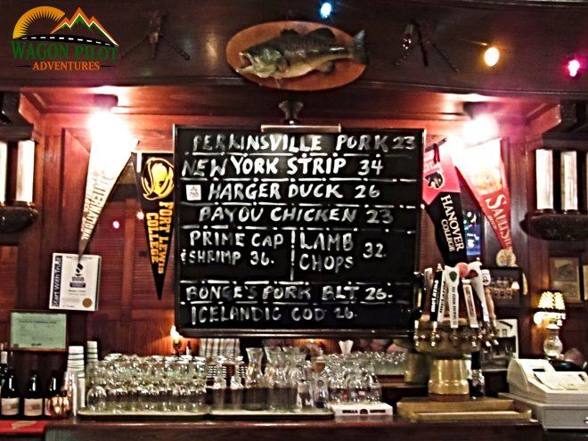 Bonge's Tavern Chalkboard Perkinsville, Indiana © Wagon Pilot Adventures