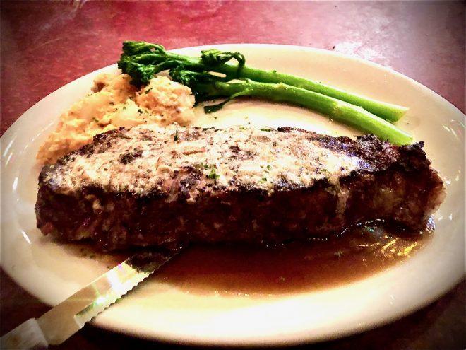 NY Strip Steak - Bonge's Tavern © Indiana Foodways Alliance