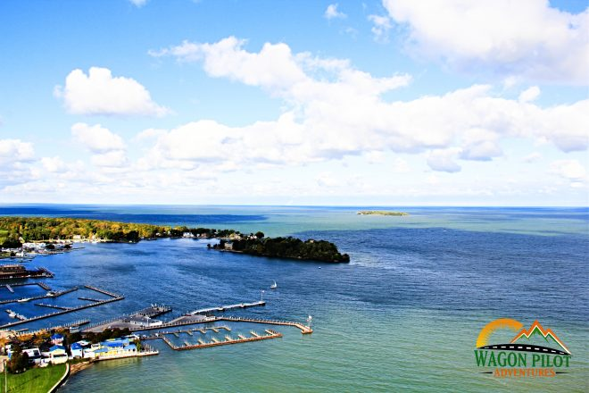 Put-in-Bay from Perry's Victory and International Peace Memorial © Wagon Pilot Adventures