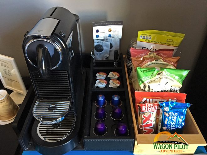 Hotel Kilbourne room snacks © Wagon Pilot Adventures