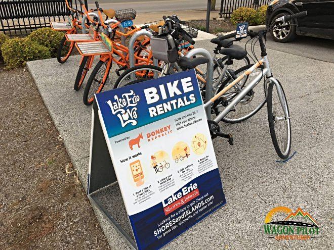 Bike Rentals Sandusky, Ohio © Wagon Pilot Adventures