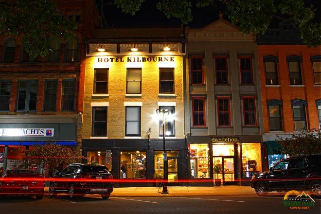 Hotel Kilbourne Sandusky, Ohio after dark © Wagon Pilot Adventures
