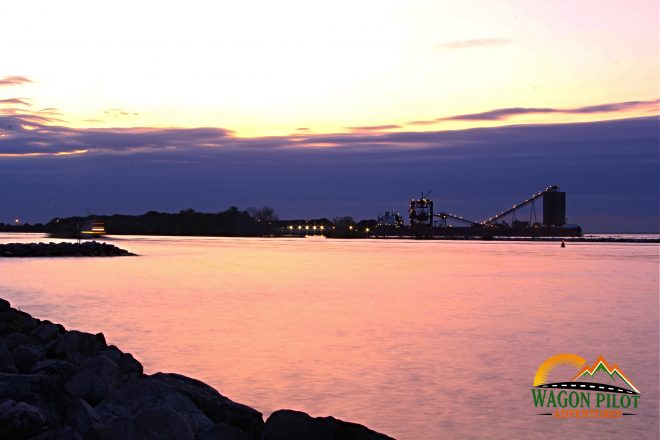Sandusky, Ohio after dark © Wagon Pilot Adventures