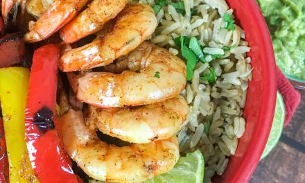 Shrimp Fajita Bowls with Cilantro Lime Rice Recipe