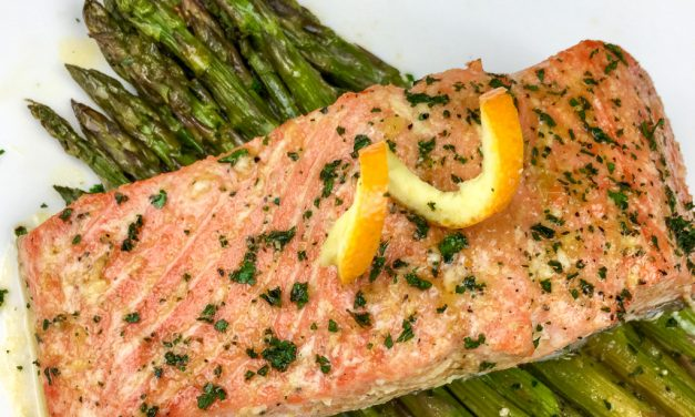 Sheet Pan Orange Glazed Salmon with Asparagus