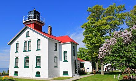 Grand Traverse Lighthouse on Lake Michigan