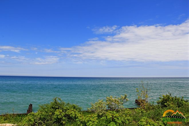 View from Point Betsie Lighthouse on Lake Michigan © Wagon Pilot Adventures