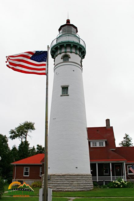 Seul Choix Point Lighthouse on Lake Michigan © Wagon Pilot Adventures