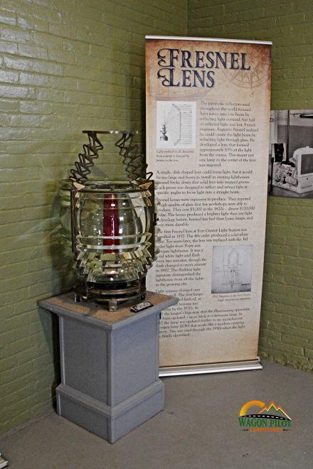 Fresnel lens on display at Fort Gratiot Lighthouse © Wagon Pilot Adventures