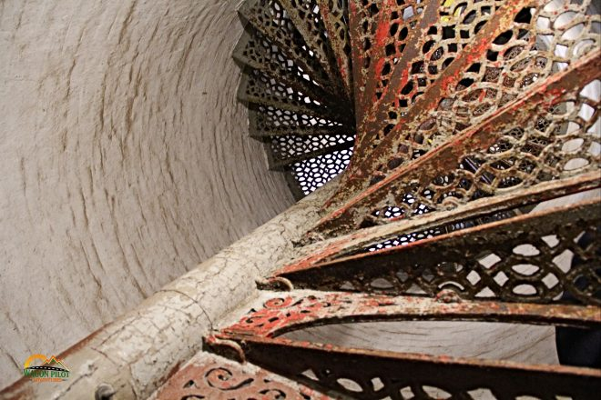 94 steps to the top of Fort Gratiot Lighthouse © Wagon Pilot Adventures